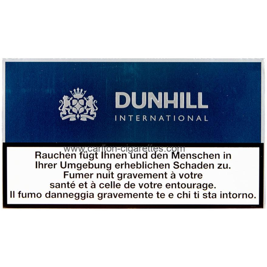 Dunhill International Green Flat Cigarette Carton