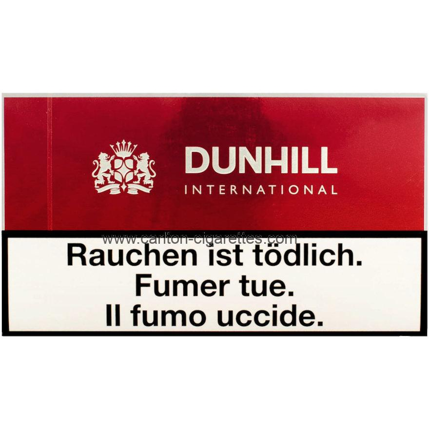 Dunhill International Red Flat Cigarette Carton