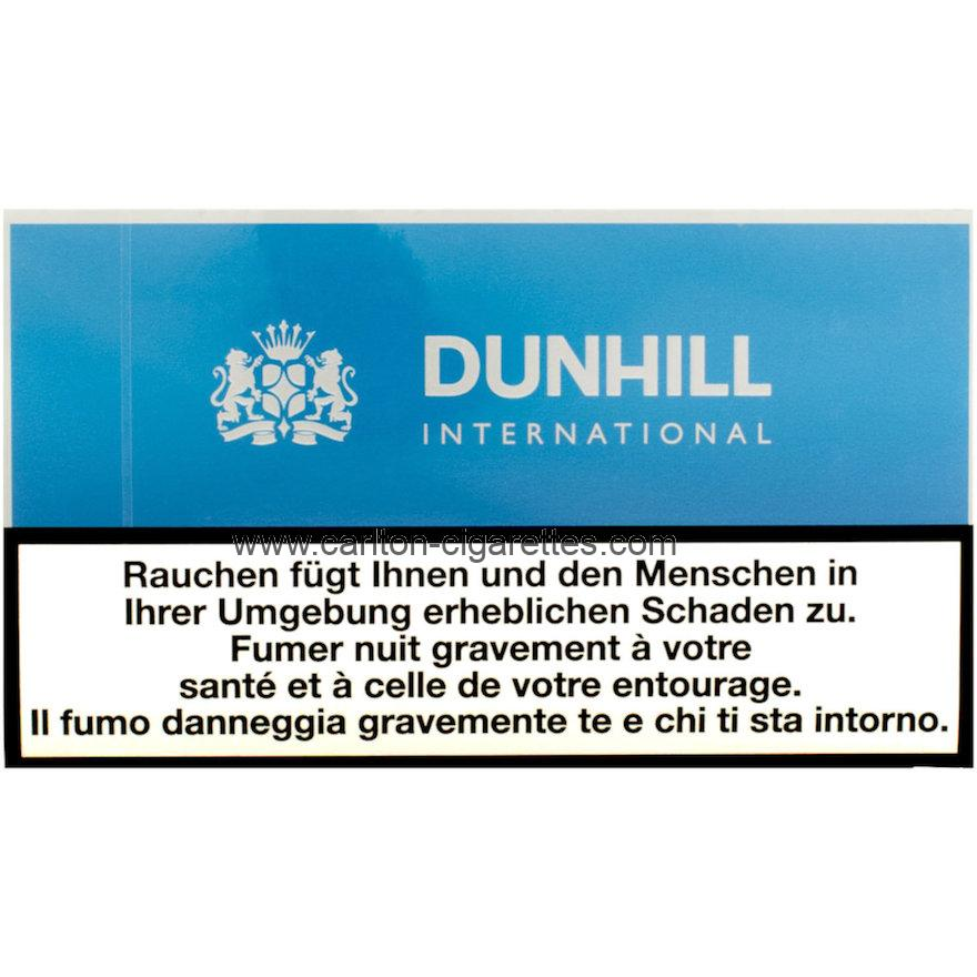Dunhill International Blue Flat Cigarette Carton