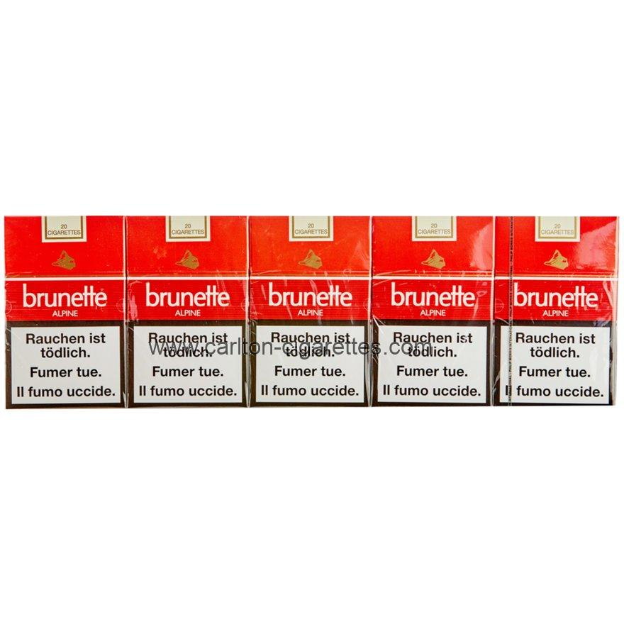 Brunette Alpine Box Cigarette Carton