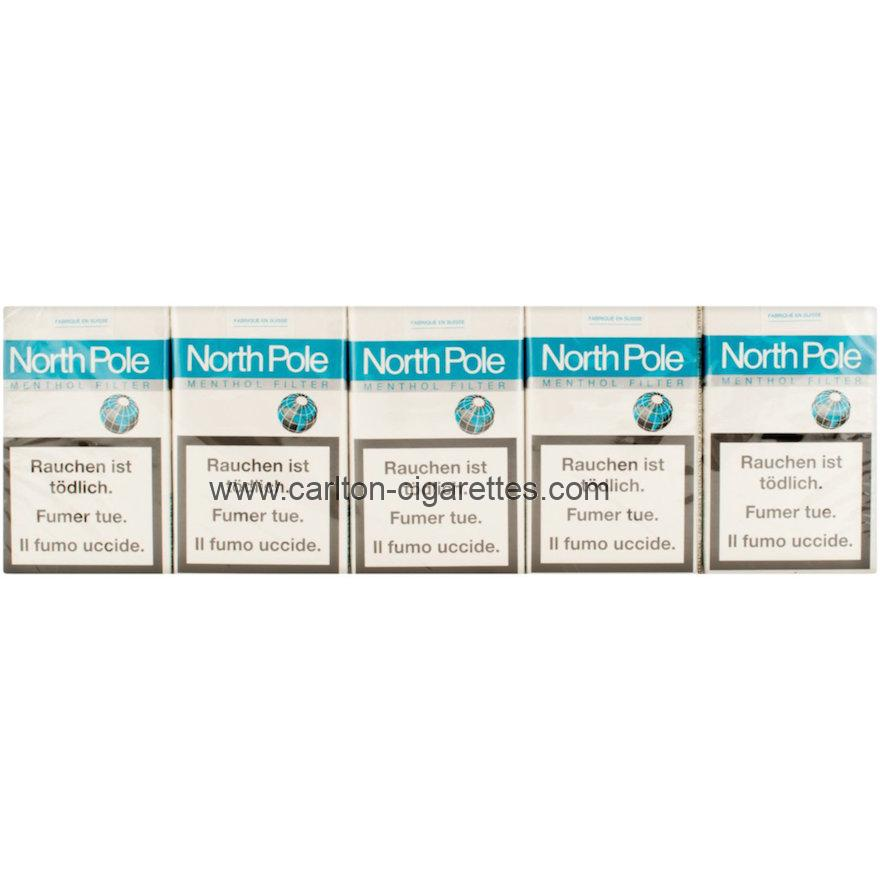North Pole Menthol Soft Filter Cigarette Carton
