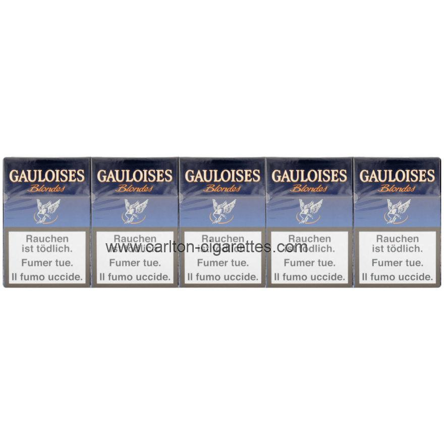 Gauloises Blondes Bleues Box Cigarette Carton