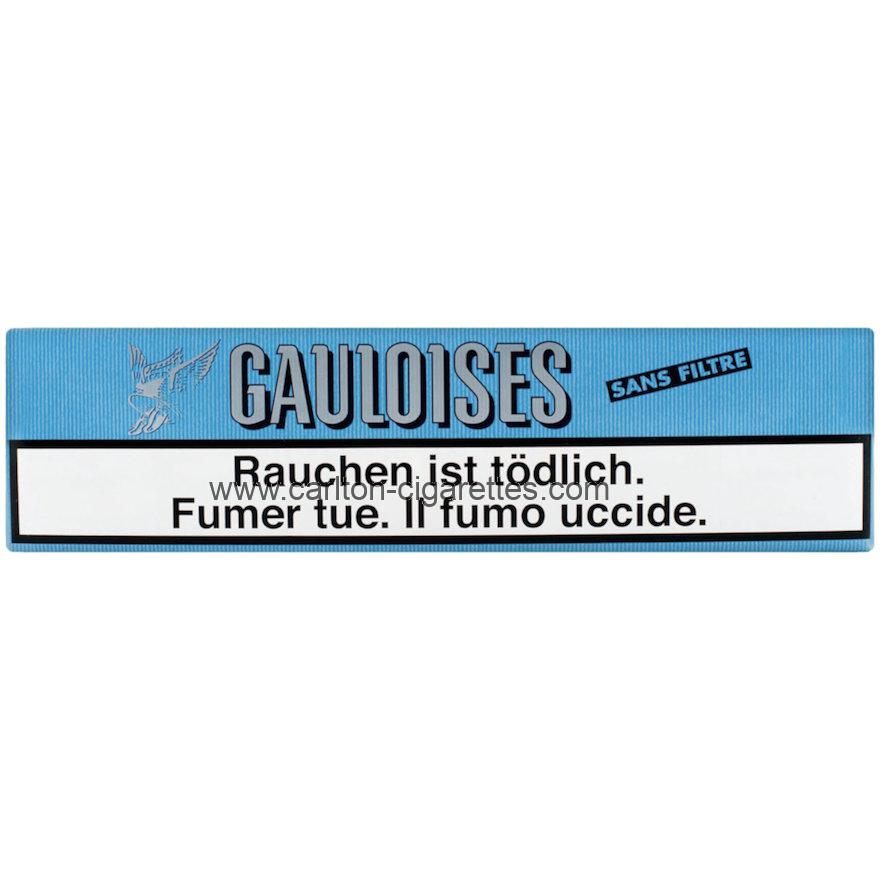 Gauloises Brunes Soft Unfiltered Cigarette Carton