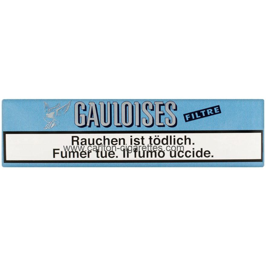 Gauloises Brunes Filter Soft Cigarette Carton