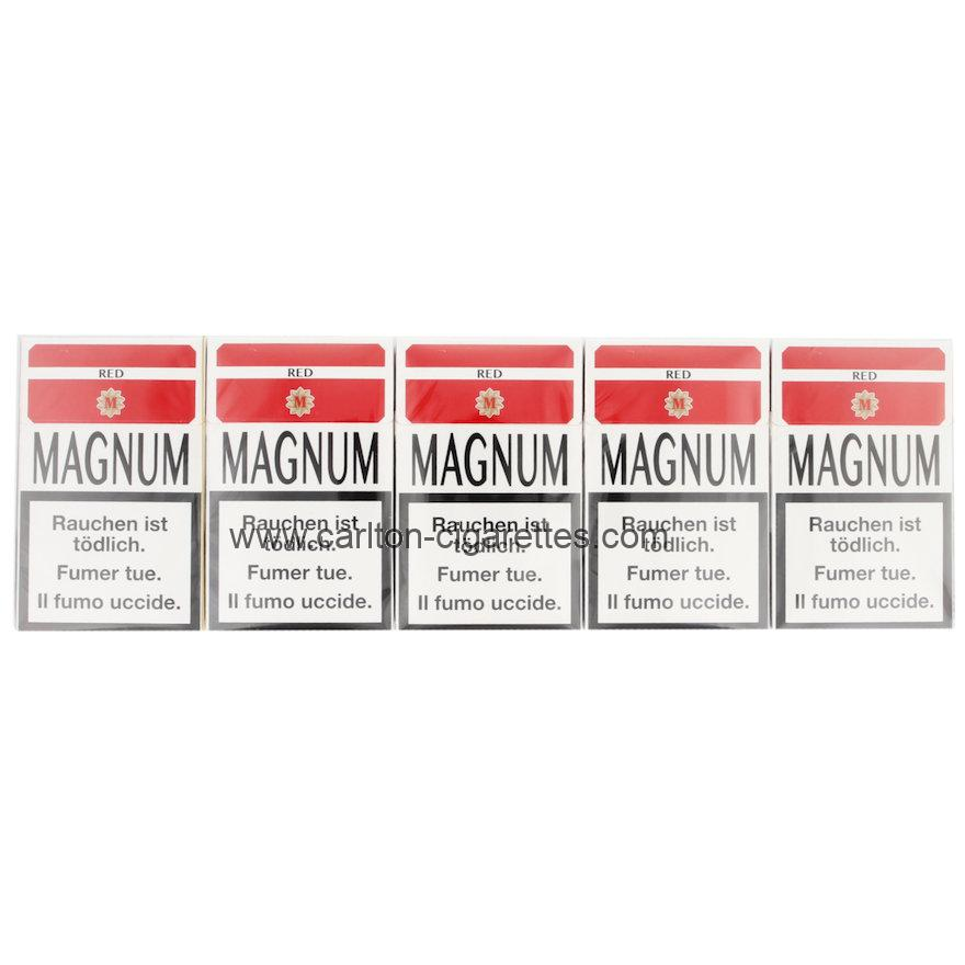 Magnum Full Flavor Red Box Cigarette Carton