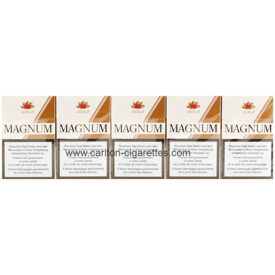 Magnum Gold Box Cigarette Carton