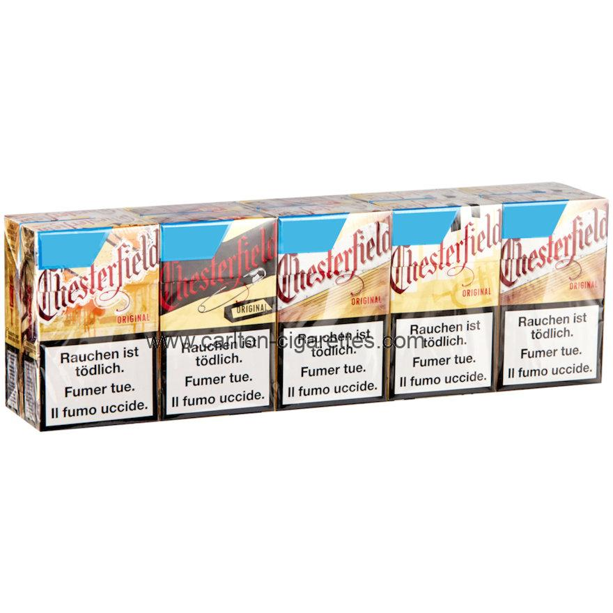 Chesterfield Original Box Cigarette Carton