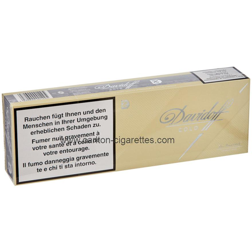 Davidoff Cigarettes Gold Cigarette Carton
