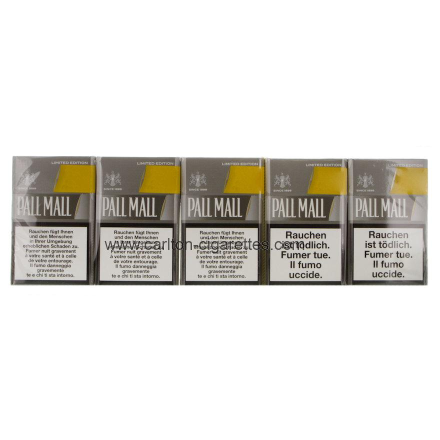 Pall Mall Limited Edition Silver Box Cigarettes with Cartridge