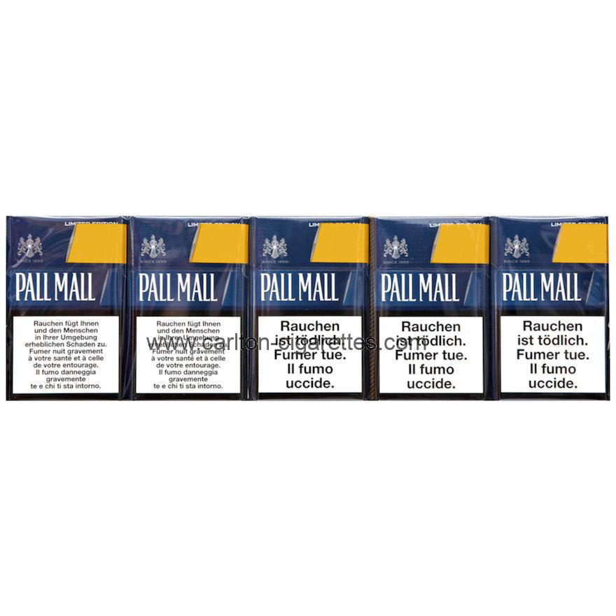 Pall Mall Limited Edition Blue Box Cigarettes with Cartridge