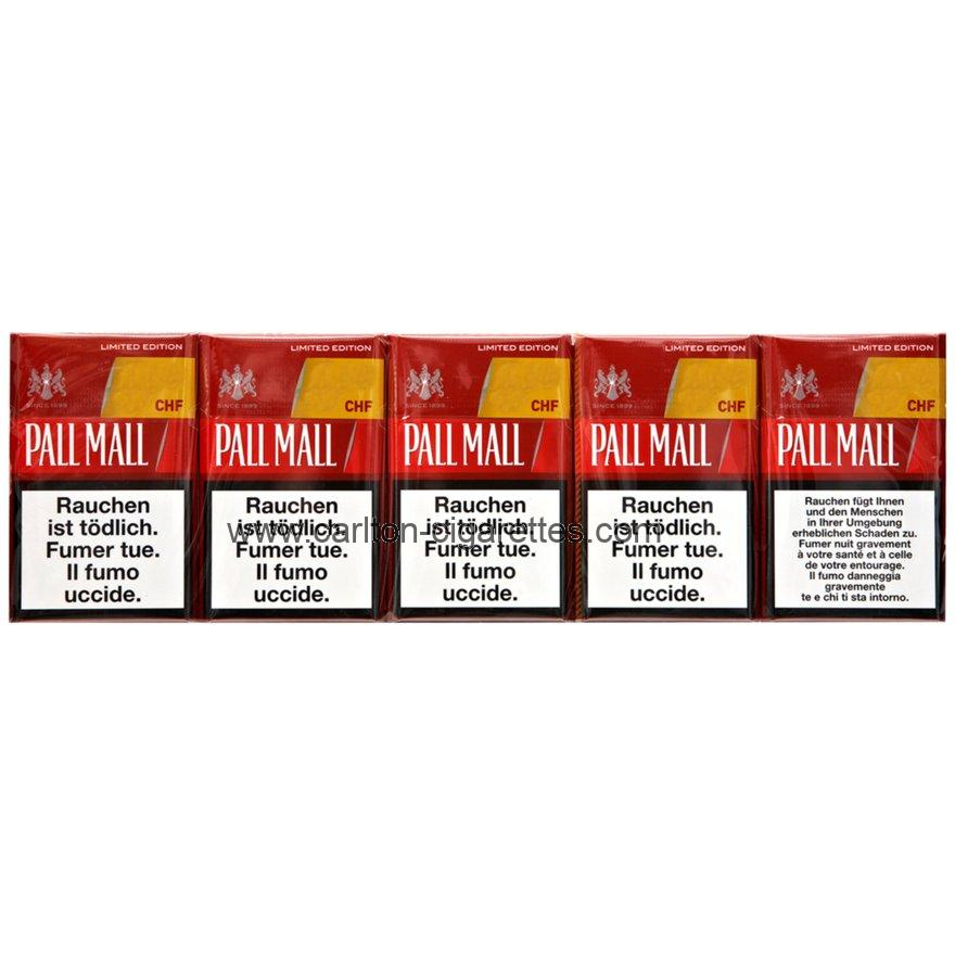 Pall Mall Limited Edition Red Box Cigarettes with Cartridge
