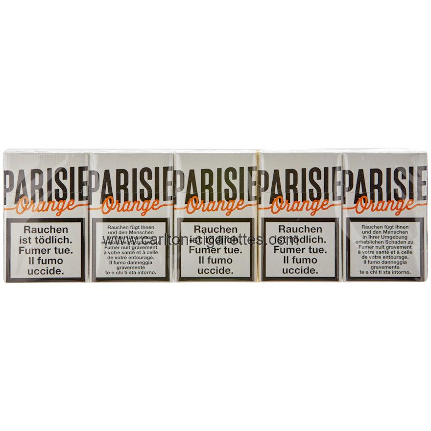 Parisienne Orange Plus Box Cigarette Carton