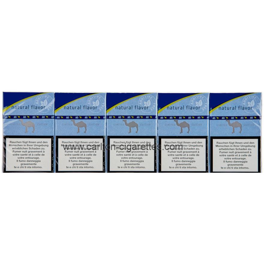 Bitcoin Purchase Camel Natural Flavor Blue Box Cigarette Carton